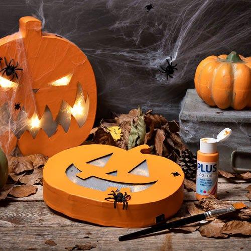 Kreativ hjemmelavet halloween pynt