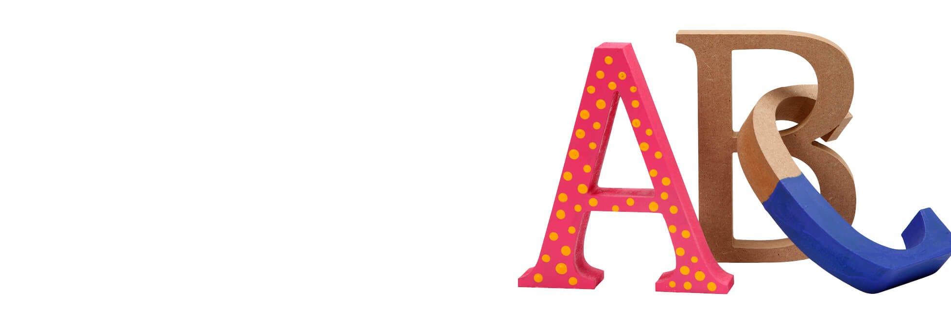 Bogstaver, tal og ord
