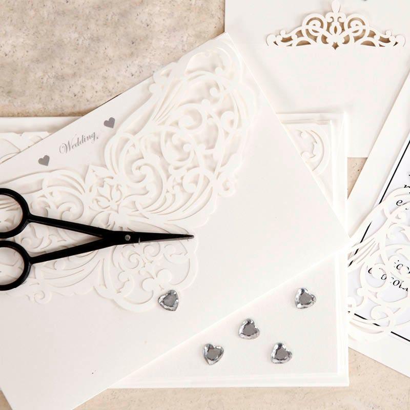 Hjemmelavede bryllups invitationer og indbydelser