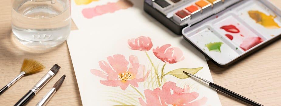 Mal med akvarel
