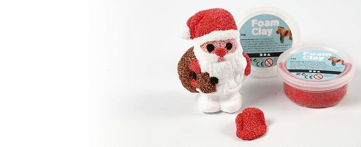 Julepynt med Foam Clay og Silk Clay