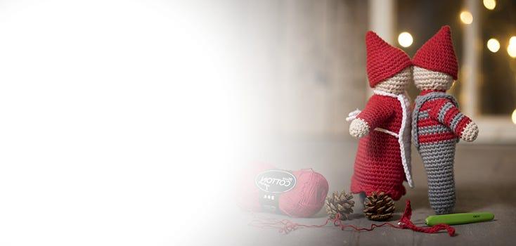 Hæklet julepynt og julestrik