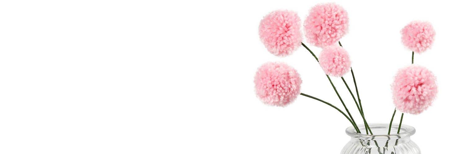 Kreativ med pomponer