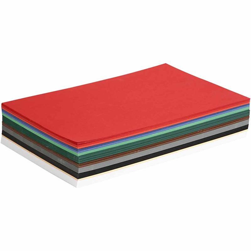 Billede af Colortime, Julekarton, A4 210x297 mm, 180 g, ass. farver, 300ass. ark