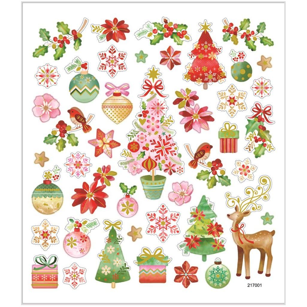 Billede af Creativ Company, Stickers, ark 15x16,5 cm, 43 stk., romantisk jul, 1ark