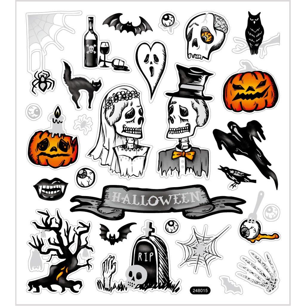 Billede af Creativ Company, Stickers, ark 15x16,5 cm, halloween, 1ark