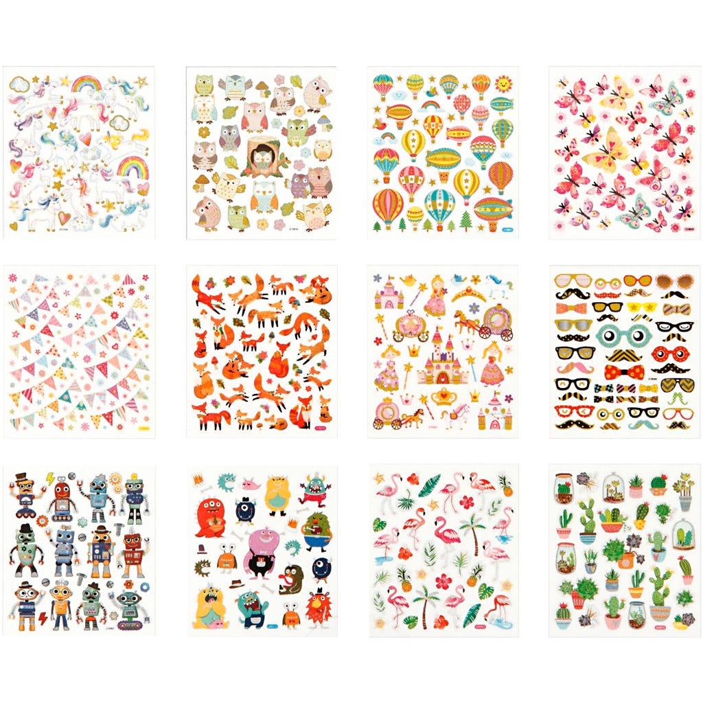 Billede af Creativ Company, Stickershæfte, ark 15x16,5 cm, helårs, 12ark