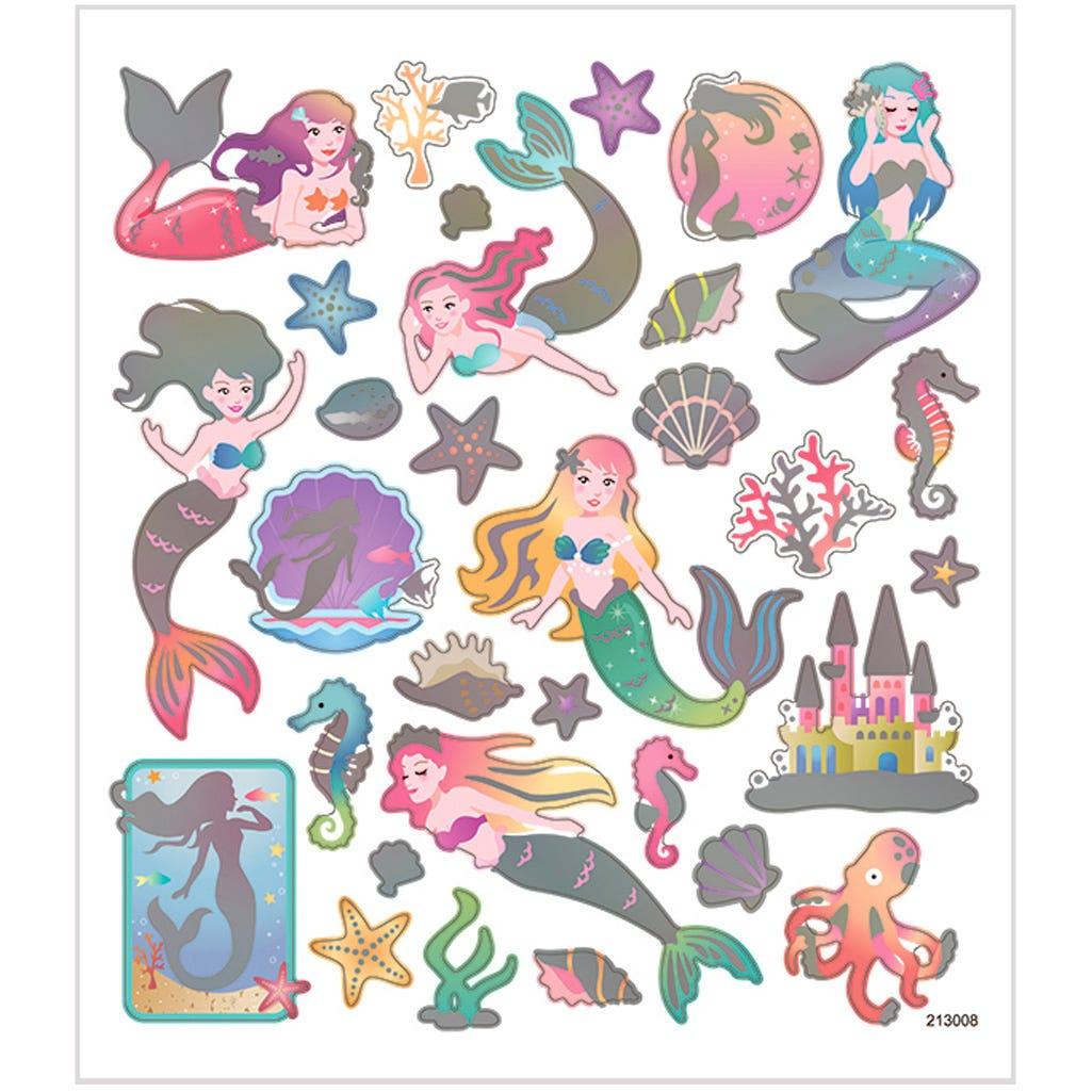Billede af Creativ Company, Stickers, ark 15x16,5 cm, ca. 32 stk., havfruer, 1ark