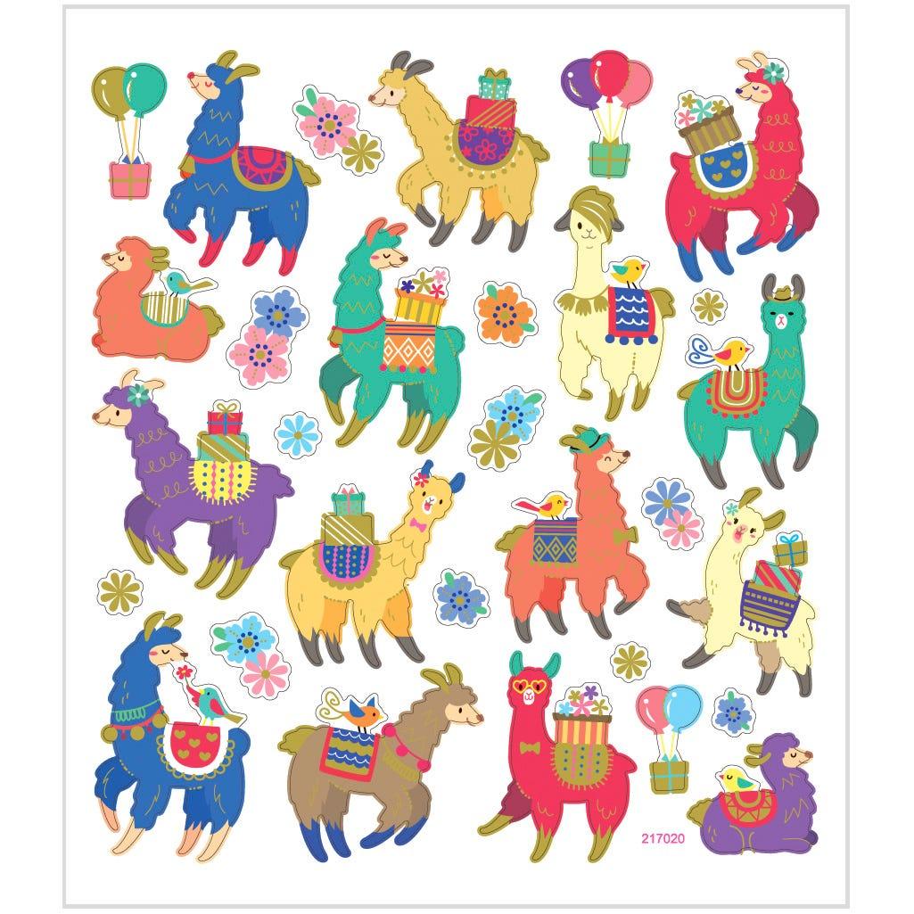 Billede af Creativ Company, Stickers, ark 15x16,5 cm, ca. 30 stk., lamaer, 1ark