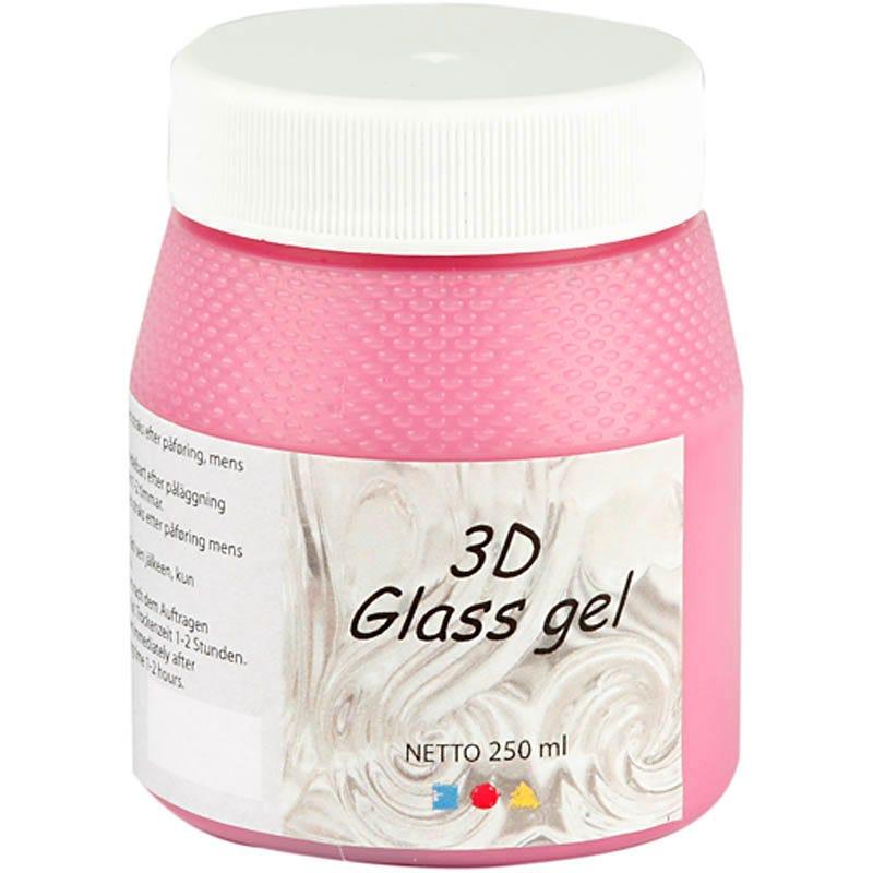 Billede af Creativ Company, 3D Glass gel, pink, 250ml