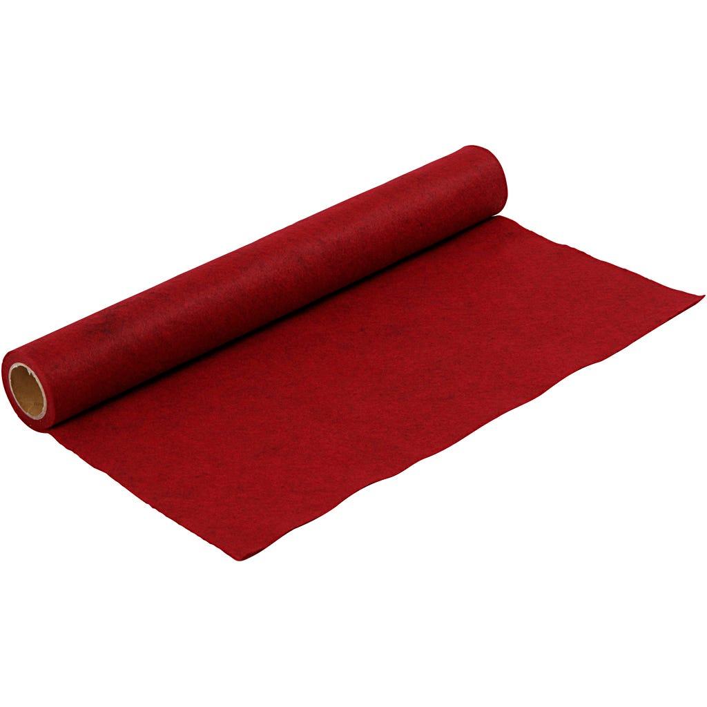 Billede af Creativ Company, Hobbyfilt, B: 45 cm, tykkelse 1,5 mm, rød, meleret, 1m, 180-200 g/m2