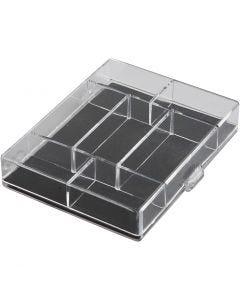 Acrylæske, str. 11,8x9,3x2,2 cm, 100 stk./ 1 pk.