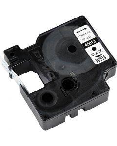Dymo tape, B: 12 mm, hvid, 7 m/ 1 rl.