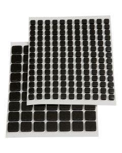Klæbepuder 3D, str. 5x5x2 mm, sort, 217 ass./ 1 pk.