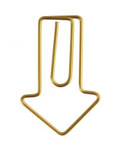 Klips, pil, str. 40x25 mm, guld, 6 stk./ 1 pk.