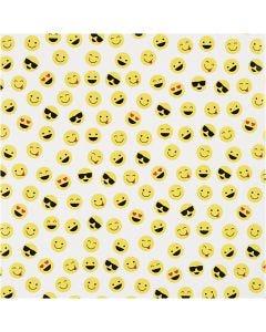 Gavepapir, smiley, B: 57 cm, 80 g, 150 m/ 1 rl.