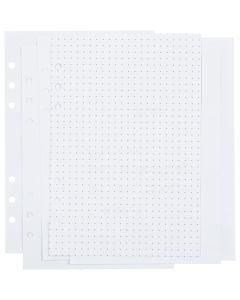 Notatpapir, prikker/dot, str. 142x210 mm, 36 , 120 g, hvid, 1 stk./ 1 pk.