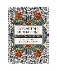 Mindfulness malebog, geometrisk, str. 10,5x14,5 cm, 20 , 1 stk.