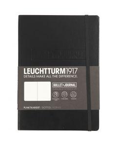 Notesbog, A5, tykkelse 2 cm, 240 , sort, 1 stk.