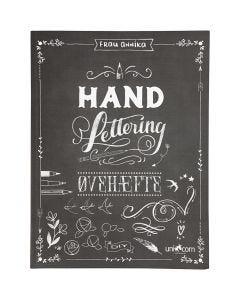 Øvehæfte til 'Hand Lettering', str. 21x28 cm, tykkelse 1 cm, 63 , 1 stk.