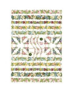 Glansbilleder, Blomsterranker, 16,5x23,5 cm, 3 ark/ 1 pk.
