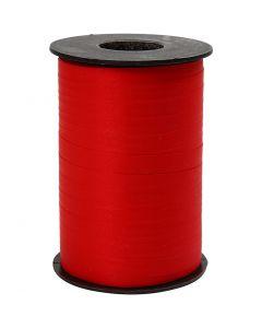 Gavebånd, B: 10 mm, mat, rød, 250 m/ 1 rl.