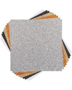 Cricut Glitter Karton (Klassikere), str. 30x30 cm, 10 ark/ 1 pk.