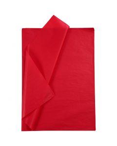 Silkepapir, 50x70 cm, 14 g, rød, 10 ark/ 1 pk.