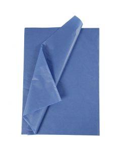 Silkepapir, 50x70 cm, 14 g, blå, 10 ark/ 1 pk.