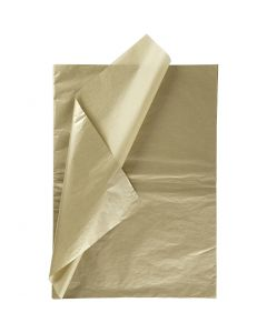 Silkepapir, 50x70 cm, 14 g, guld, 6 ark/ 1 pk.