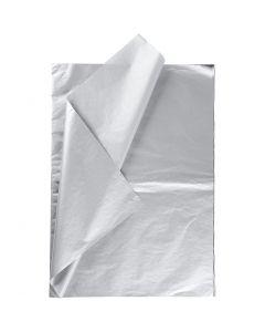Silkepapir, 50x70 cm, 14 g, sølv, 6 ark/ 1 pk.