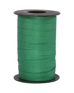 Gavebånd, B: 10 mm, glitter, grøn, 100 m/ 1 rl.