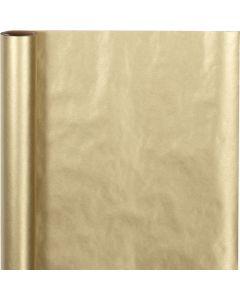 Gavepapir, B: 50 cm, 60 g, guld, 5 m/ 1 rl.