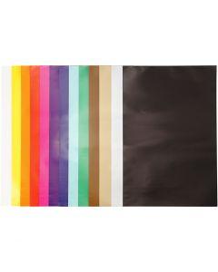 Glanspapir, 32x48 cm, 80 g, ass. farver, 100 ark/ 1 pk.