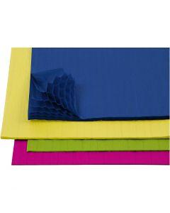 Harmonikapapir, 28x17,8 cm, ass. farver, 4x2 ark/ 1 pk.