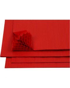 Harmonikapapir, 28x17,8 cm, rød, 8 ark/ 1 pk.