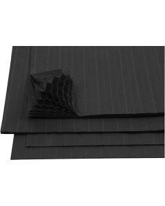 Harmonikapapir, 28x17,8 cm, sort, 8 ark/ 1 pk.