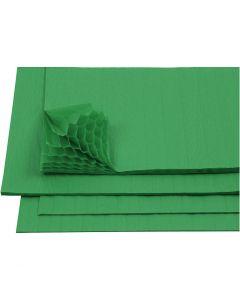 Harmonikapapir, 28x17,8 cm, grøn, 8 ark/ 1 pk.