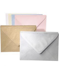 Kuverter, ass. farver, 120 stk./ 1 pk.