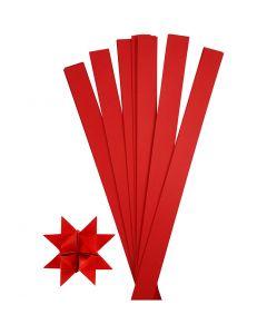 Stjernestrimler, L: 73 cm, diam. 11,5 cm, B: 25 mm, rød, 100 strimler/ 1 pk.