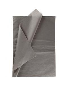 Silkepapir, 50x70 cm, 14 g, mørk grå, 25 ark/ 1 pk.