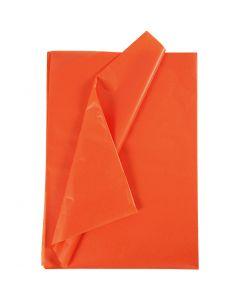 Silkepapir, 50x70 cm, 17 g, orange, 25 ark/ 1 pk.