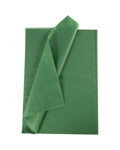 Silkepapir, 50x70 cm, 14 g, grøn, 25 ark/ 1 pk.