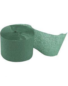 Crepepapir ruller, L: 20 m, B: 5 cm, grøn, 20 rl./ 1 pk.