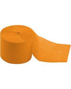 Crepepapir ruller, L: 20 m, B: 5 cm, gul, 20 rl./ 1 pk.