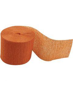 Crepepapir ruller, L: 20 m, B: 5 cm, orange, 20 rl./ 1 pk.
