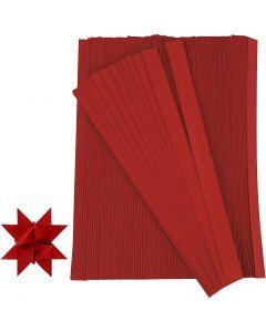 Stjernestrimler, L: 45 cm, B: 10 mm, diam. 4,5 cm, rød, 500 strimler/ 1 pk.