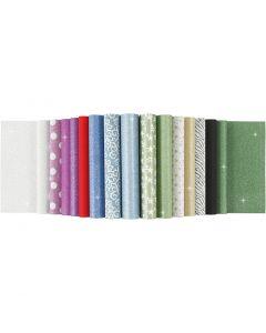 Glitterpapir i blok, A4, 210x297 mm, 150 g, 30 ark/ 1 stk.
