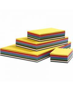 Creativ karton, A2,A3,A4,A5,A6, 180 g, ass. farver, 1800 ass. ark/ 1 pk.