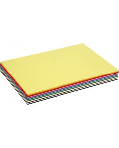Creativ karton, A3, 297x420 mm, 180 g, ass. farver, 300 ass. ark/ 1 pk.